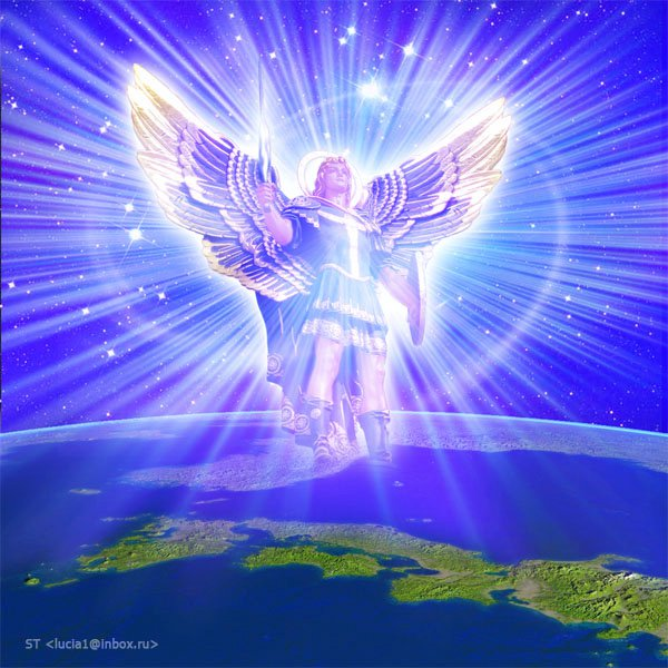 Image result for Arch angel michael with blue clock